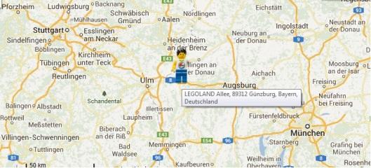 mapa legoland deutschland